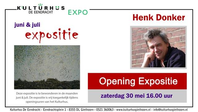 Expo uitnodiging Henk Donker